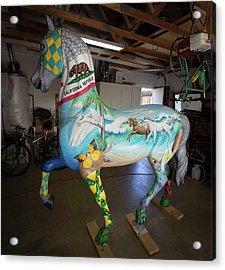 Breeders Cup Fiberglass Horse Left Acrylic Print