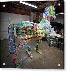 Breeders Cup Fiberglass Horse Right Back Acrylic Print