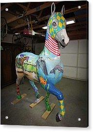 Breeders Cup Fiberglass Horsefront Right Acrylic Print