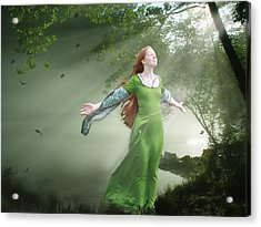 Breeze Acrylic Print by Marrissia Ruth
