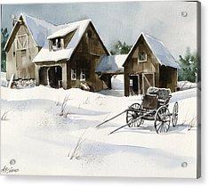 Breezy Barns 'n Buggy Acrylic Print by Art Scholz