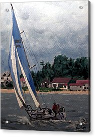 Breezy Day At Sea Acrylic Print by Jim Phillips