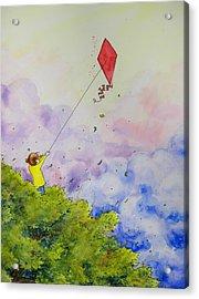 Breezy Day Happy Day Acrylic Print by Jaymi Krystowiak