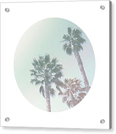 Breezy Palm Trees- Art By Linda Woods Acrylic Print by Linda Woods
