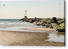 Breezy Point Jetty With Pools Acrylic Print
