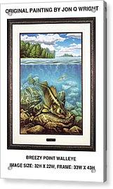 Breezy Point Walleye Original Acrylic Print by Jon Q Wright