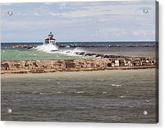 Acrylic Print featuring the photograph Breitbeck Park, Overlooking Oswego Harbor by Chris Babcock