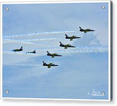 Breitling Air Show Acrylic Print by Linda Constant