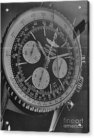 Breitling Chronometer Acrylic Print by David Bearden