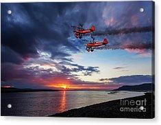 Breitling Wingwalkers Sunset Acrylic Print
