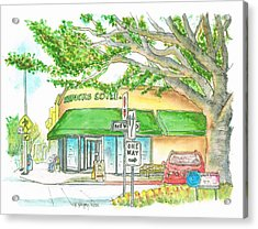 Starbucks Coffee In Brentwood, California Acrylic Print
