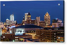 Brew City At Dusk Acrylic Print