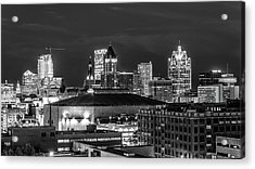 Acrylic Print featuring the photograph Brew City At Night by Randy Scherkenbach