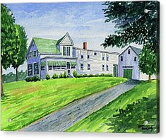 Brewer Family Farm, Augusta Maine Acrylic Print by Jeff Blazejovsky