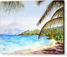 Brewers Bay Beach Acrylic Print