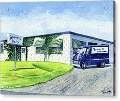 Brewer's Dairy Store, Augusta Maine, Circa 1960 Acrylic Print by Jeff Blazejovsky