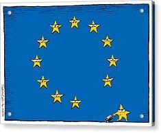 Brexit Eu Flag  Acrylic Print