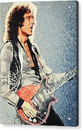 Brian May Acrylic Print by Taylan Apukovska