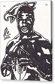 Acrylic Print featuring the drawing Brian Westbrook by Jeremiah Colley