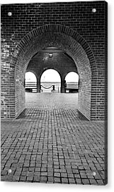 Brick Arch Acrylic Print by Greg Fortier