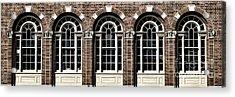 Acrylic Print featuring the photograph Brick Arch Windows by Brad Allen Fine Art