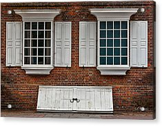 Brick Face Acrylic Print by Christopher Holmes
