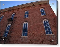Brick Face Acrylic Print by Ross Powell