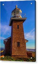Brick Lighthouse Acrylic Print by Garry Gay