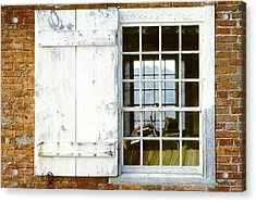 Brick Schoolhouse Window Photo Acrylic Print