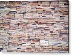 Acrylic Print featuring the photograph Brick Tiled Wall by John Williams