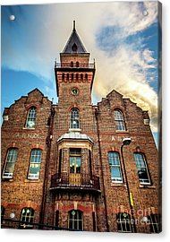 Acrylic Print featuring the photograph Brick Tower by Perry Webster