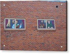 Brick Wall Street Art Acrylic Print by Robert Braley