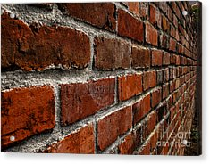 Brick Wall With Perspective Acrylic Print