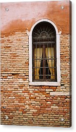 Brick Window Acrylic Print by Kathy Schumann
