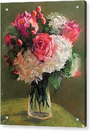 Acrylic Print featuring the painting Bridal Bouquet by Pam Talley