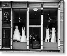Bridal Gowns Acrylic Print by Al White