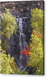 Bridal Veil Falls Black Hills Acrylic Print by Rich Stedman