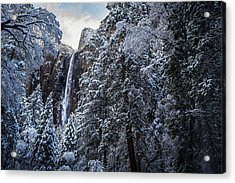 Bridal Veil Falls In Winter Acrylic Print