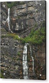Bridal Veil Falls Provo Canyon Utah Fine Art Photograph Acrylic Print
