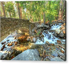 Bridalveil Creek At Yosemite By Michael Tidwell Acrylic Print