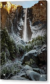 Bridalveil Fall Frozen Landing Yosemite California Acrylic Print