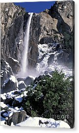 Acrylic Print featuring the photograph Bridalveil In Winter by Stan and Anne Foster