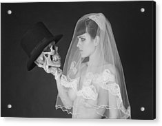 Bride And Groom Acrylic Print by MAX Potega