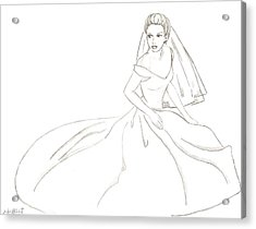 Bride Acrylic Print by Michelle Kinzler