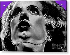 Bride Of Frankenstein Signed Prints Available At Laartwork.com Coupon Code Kodak Acrylic Print by Leon Jimenez