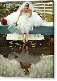 Brides Reflection Acrylic Print by Ken Gimmi