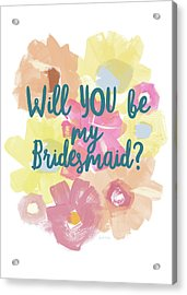 Bridesmaid Floral- Art By Linda Woods Acrylic Print by Linda Woods