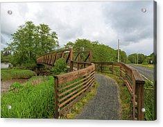 Bridge Along Lewis And Clark Hiking Trail  Acrylic Print
