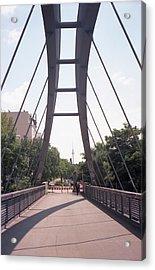 Bridge And Alexanderplatz Tower Acrylic Print