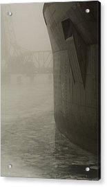 Bridge And Barge Acrylic Print